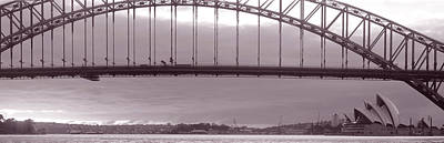 Harbor Bridge, Pacific Ocean, Sydney Poster by Panoramic Images