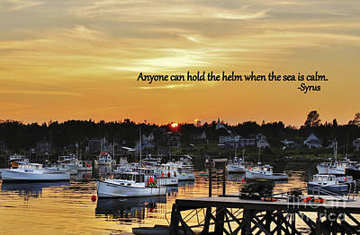 Harbor Inspiration Poster