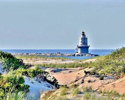 Harbor Of Refuge Lighthouse Poster