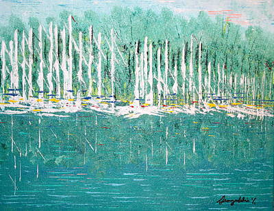 Harbor Shores Poster by George Riney