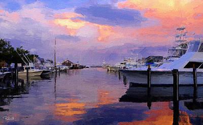Harbor Sunset Poster by Bob Sandler
