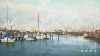 Harbor Morning Poster by Terry Rowe