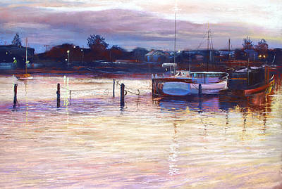Harbour Lights - Apollo Bay Poster by Lynda Robinson