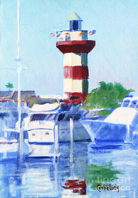 Harbour Town Lighthouse Poster by Candace Lovely