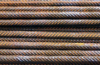 Hard Metal Rebar Pattern Poster