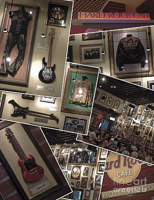 Hard Rock Cafe Hollywood Florida Poster by Nancy L Marshall