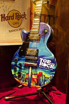 Hard Rock Electric Guitar Poster