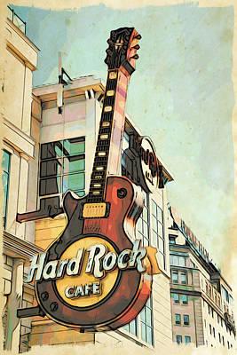 Hard Rock Guitar Poster