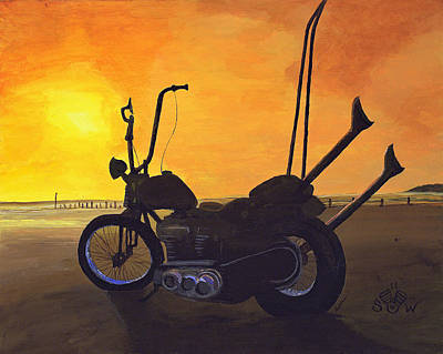 Hard Tail Sunset Poster by Scott Wilson