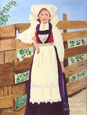 Poster featuring the painting Hardanger Girl by Rodney Campbell