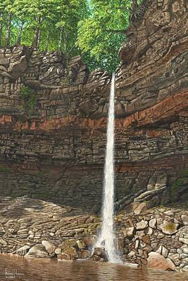 Hardraw Force Yorkshire Poster by Richard Harpum