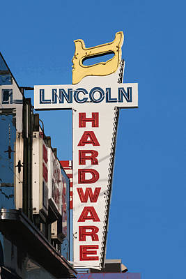Hardware Sign Poster by Art Block Collections