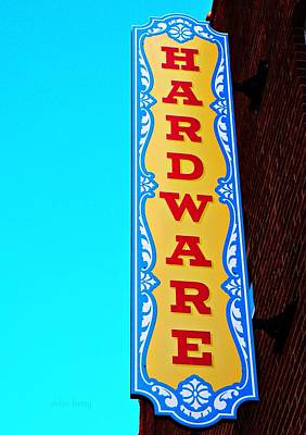Hardware Store Poster by Chris Berry