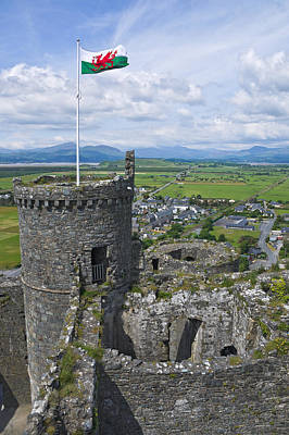 Harlech Castle Tower Poster