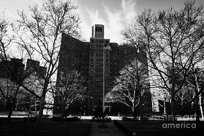 Harlem Brownstone High Rise Apartment Blocks Projects Post World War 2 New York City Poster