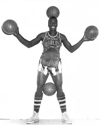 Harlem Globetrotters Player Poster by Underwood Archives