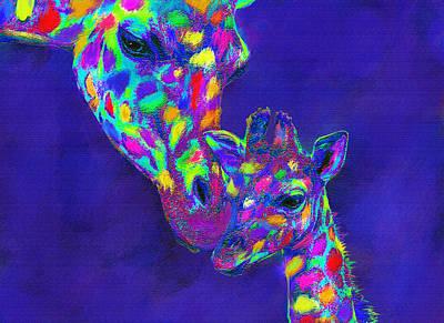 Harlequin Giraffes Poster