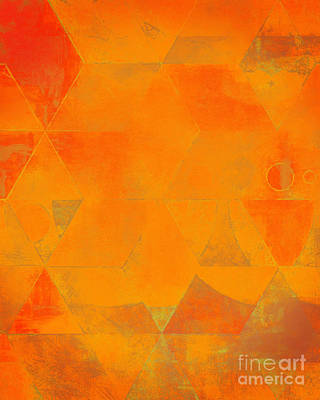 Harlequin Orange Peel Poster by Lonnie Christopher
