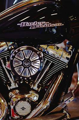 Harley Davidson Abstract Poster