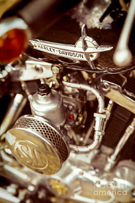 Poster featuring the photograph Harley Davidson Closeup by Carsten Reisinger