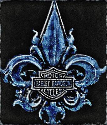 Harley Davidson Fleur De Lys Logo Poster by Danielle  Parent