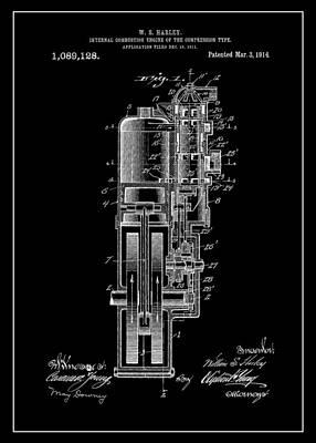Harley Davidson Internal Combustion Engine Poster