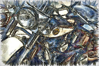 Harley Davidson Painted Poster