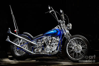 Harley-davidson Panhead Chopper From The Wild Angels Poster