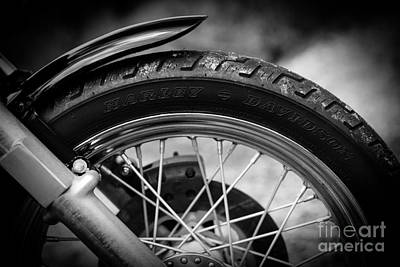 Poster featuring the photograph Harley Davidson Tire by Carsten Reisinger