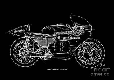 Harley Davidson Xr 750 1968 Poster by Pablo Franchi