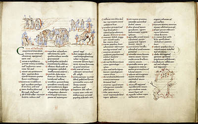 Harley Psalter With Pen Drawings Poster by British Library