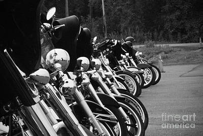 Harleys All In A Row Poster