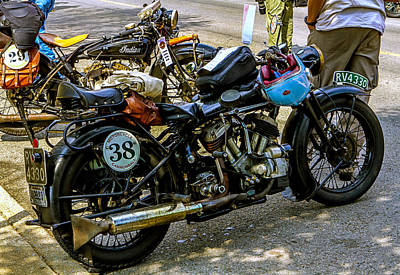 Harleys And Indians Poster
