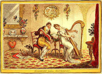 Harmony Before Matrimony, Gillray, James Poster by Litz Collection