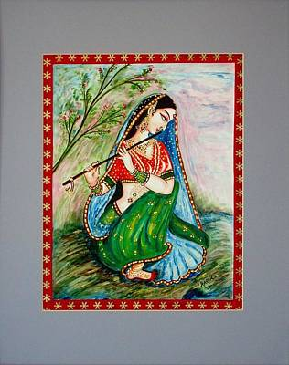 Poster featuring the painting Harmony by Harsh Malik