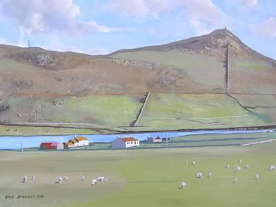 Haroldswick Shetland Islands Poster