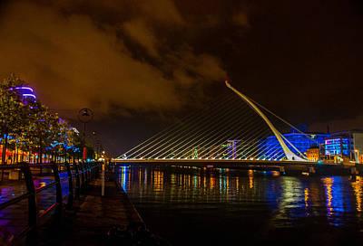 Harp Bridge Dublin Poster by Rob Hemphill