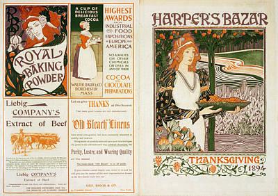 Harper's Bazar Thanksgiving Poster by Georgia Fowler