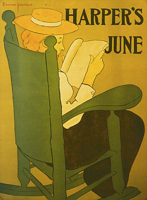Harpers June 1896 Poster by Edward Penfield
