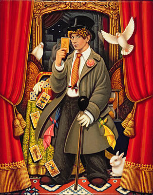 Harpo, 2010 Oils & Tempera On Panel Poster by Frances Broomfield