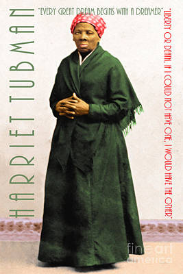 Harriet Tubman 20140210v1 With Text Poster by Wingsdomain Art and Photography