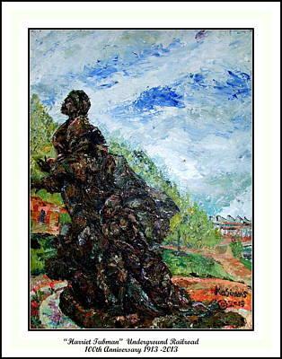Harriet Tubman-underground Railroad Poster by Keith OBrien Simms