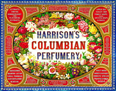 Harrison's Columbian Perfumery 1854 Poster by Padre Art