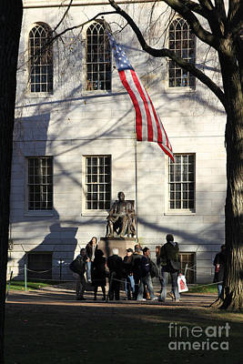 Harvard Statue Poster