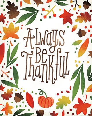 Harvest Time Always Be Thankful Poster