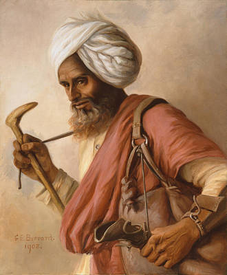 Hasan, Water Carrier To The Artist Poster by Gertrude Ellen Burrard
