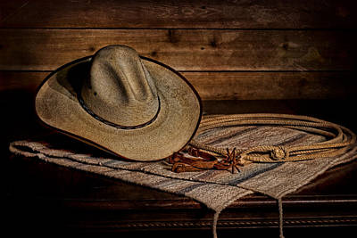 Hat Lariat And Spurs Poster