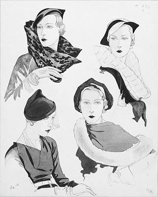 Hat Styles By Agnes Poster by Douglas Pollard