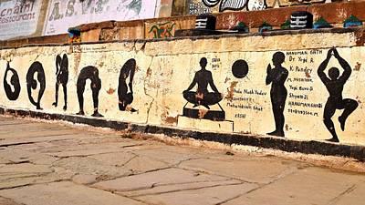 Hatha Yoga Wall Art  - Varanasi India Poster by Kim Bemis