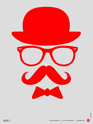 Hats Glasses And Mustache Poster 3 Poster by Naxart Studio